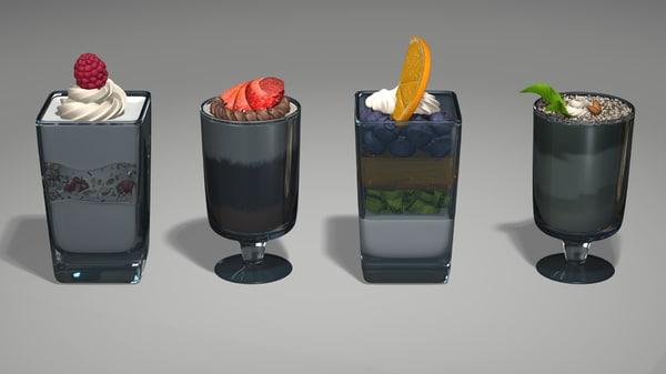 3d mini dessert model