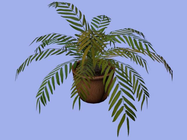 3d bush grass pottery model