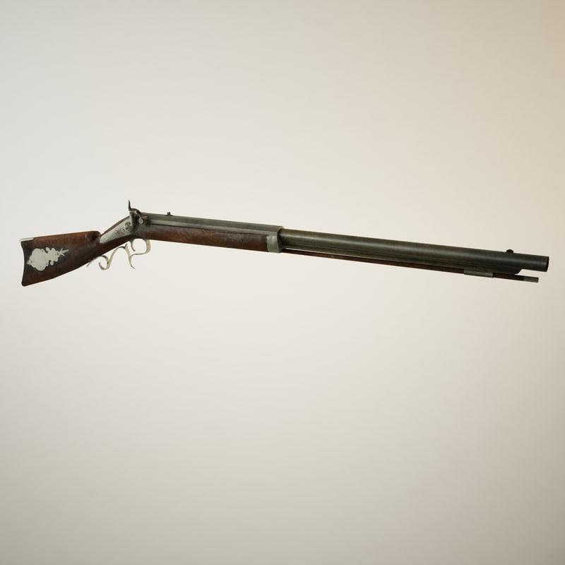3d antique musket model