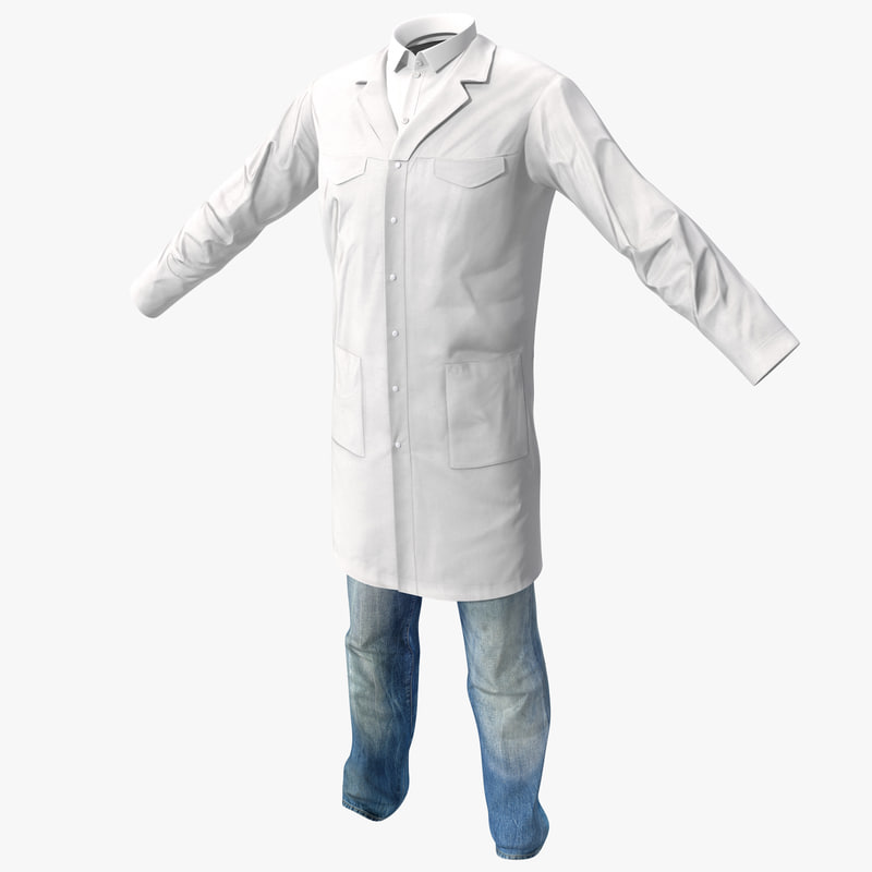 3d scientist clothes 2 model