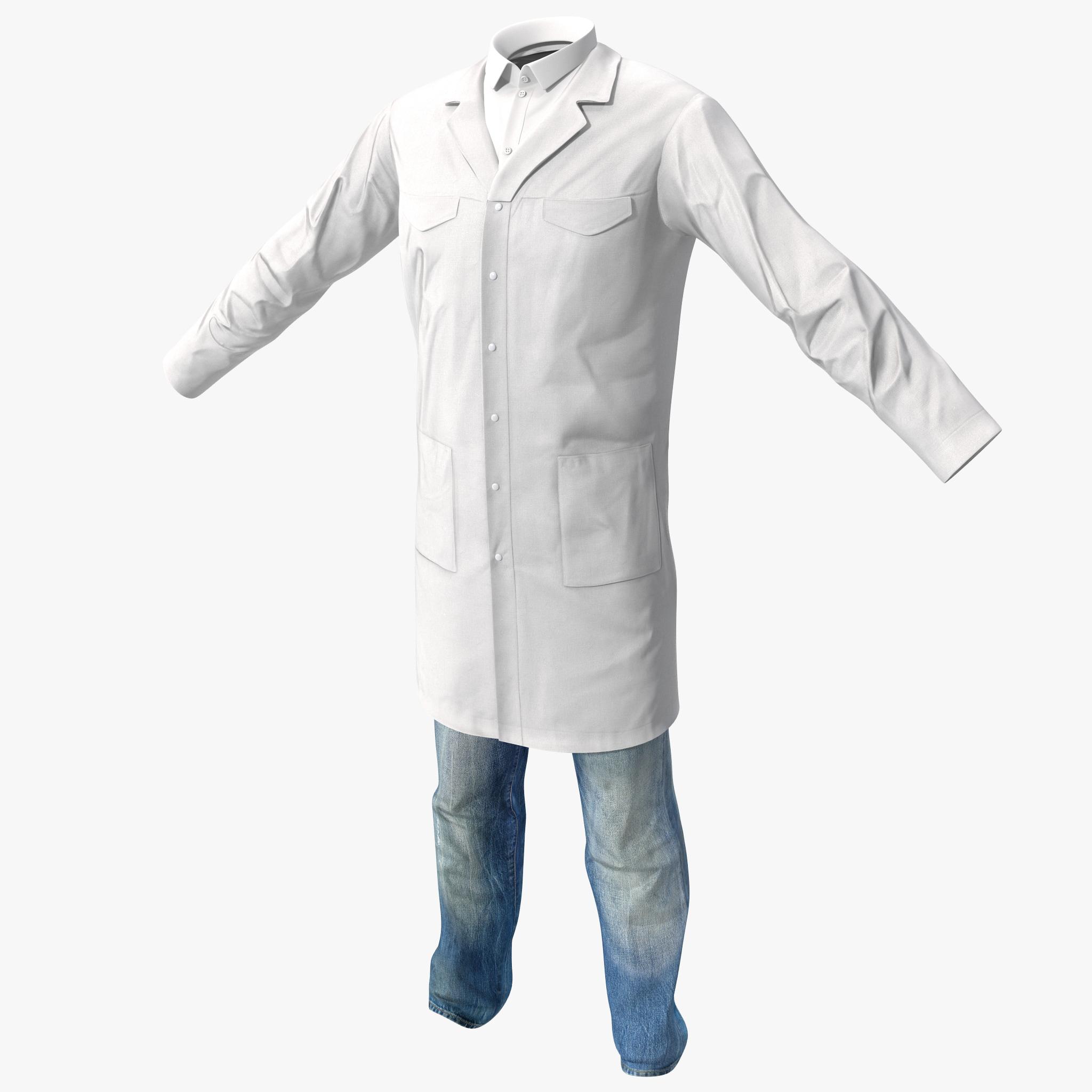 3d scientist clothes 2 model