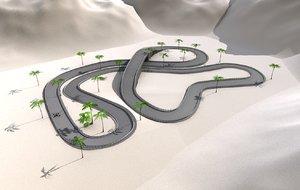 3ds race track kart going