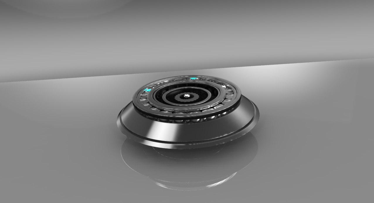 3d model of component ear robot