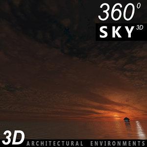 3d obj sky clouds
