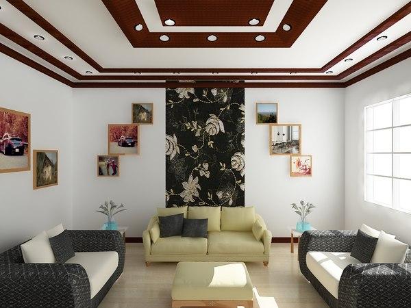 room interior realistic 3d model