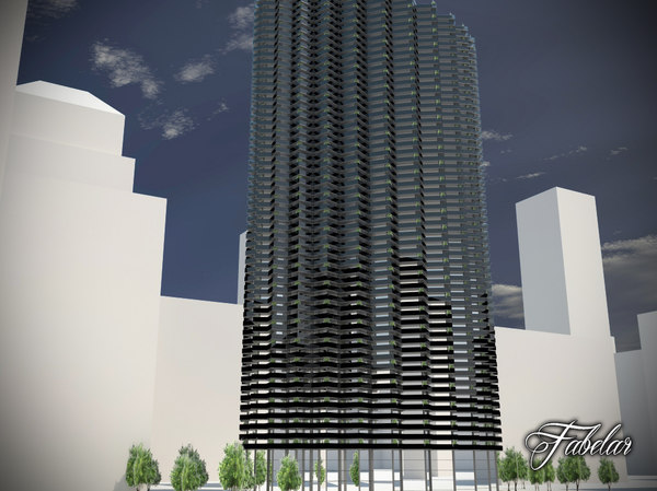 skyscraper modular mentalray 3d 3ds
