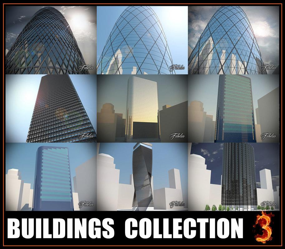 buildings modular mentalray 3d model