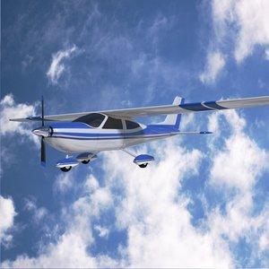 3ds max cessna propeller aircraft