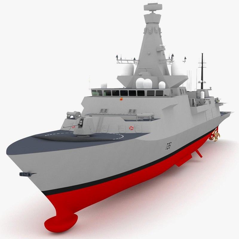 3d uk type 26 frigate