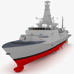 3d uk type 26 frigate