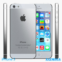 3d iphone 5 white