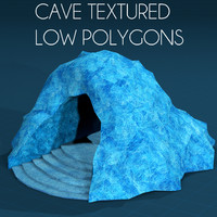 4 Caverns Low Polygons textured bumpmap