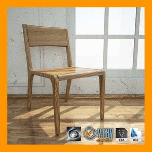 3d tenon chair materials model