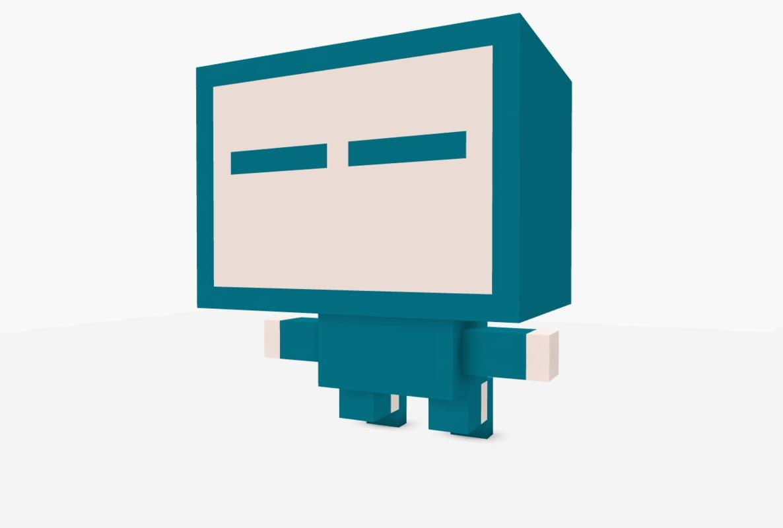 robot blue obj free