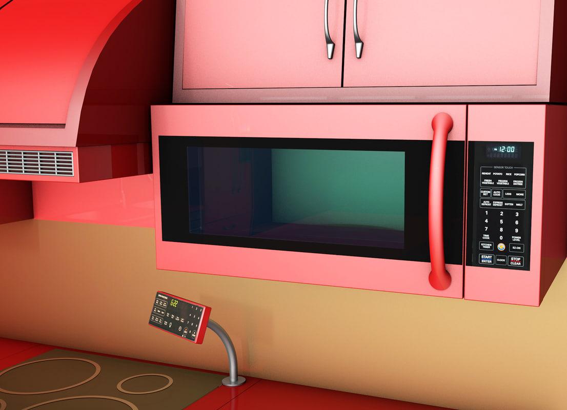 microwave fan 3d 3ds