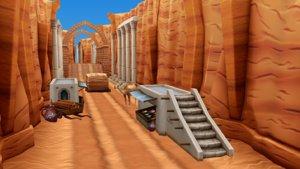 cartoon desert 3d x