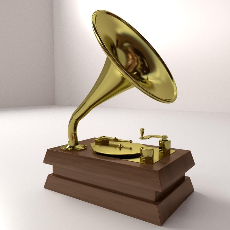 3d model of gramaphone