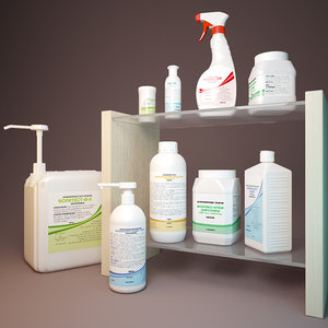 3d model disinfectant cleaning