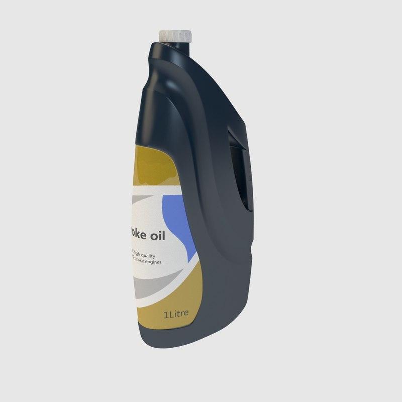 plastic bottle 3d lwo