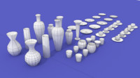 Cups, Mugs, Plates and Vases