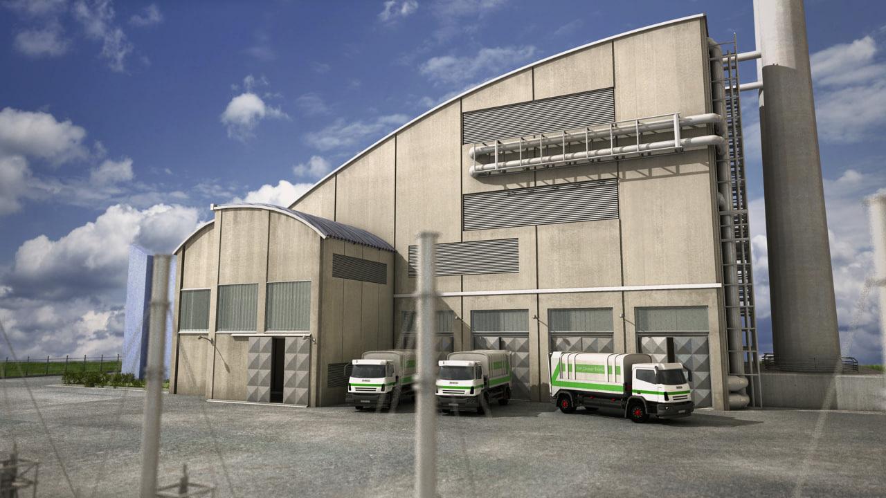 factory truck 3d model