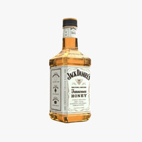 3d obj jack daniels bottle