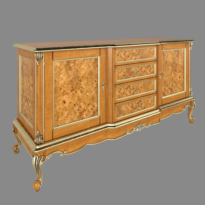 Sideboard modenese gastone 3d model for Sideboard 3d