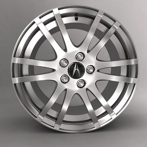 3ds max acura car alloy logo