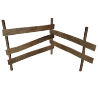 wooden fence 3d max