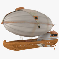 3d historic air ship