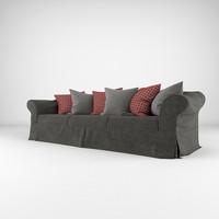 sofa realistic 3d obj