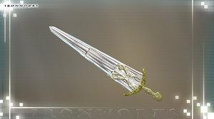 cinqueada sword 3d model