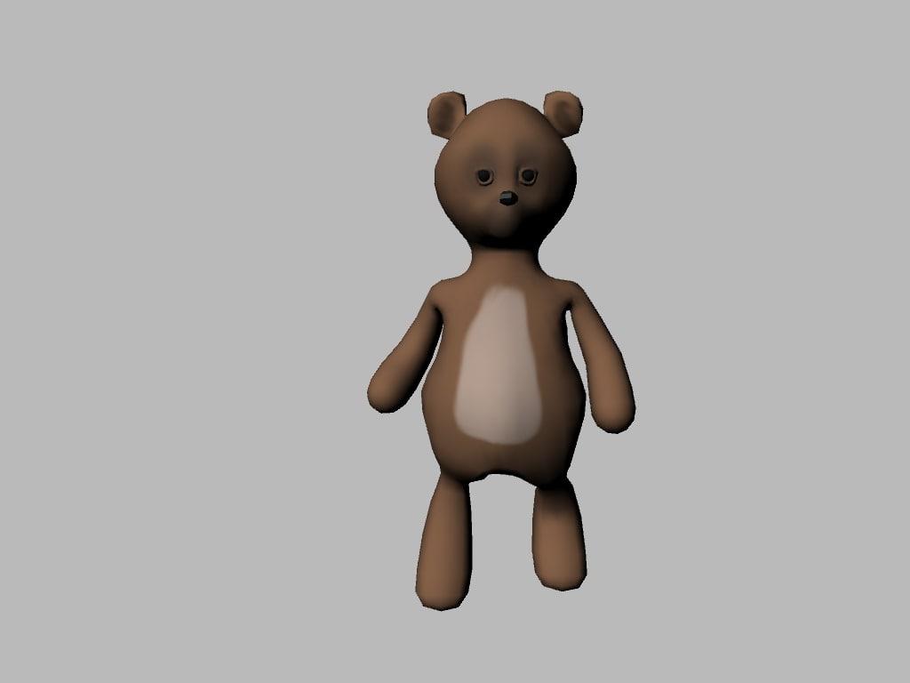 3d model bear cartoon
