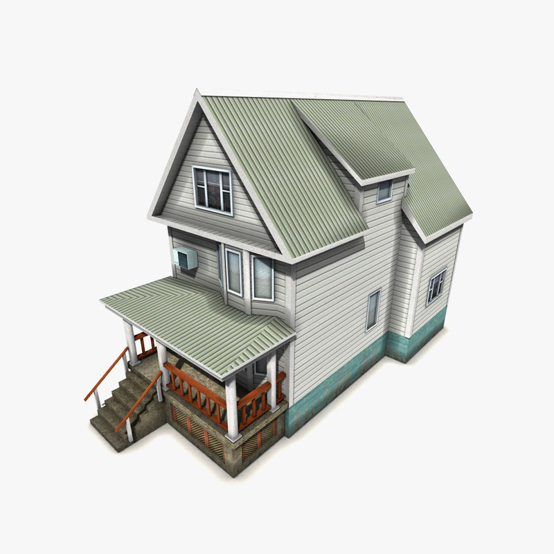 free wooden house 3d model
