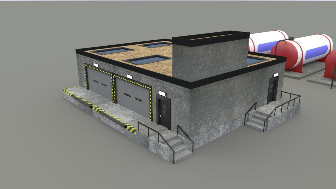 warehouse storage 3d model