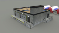 warehouse storage 3d model