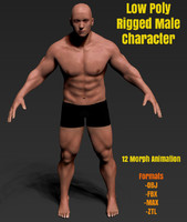 max rigged male character man