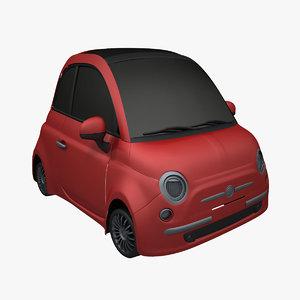 3d cartoon compact car model