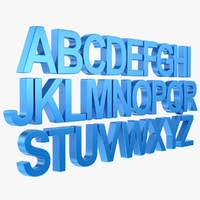 alphabet letter subdivided 3d max