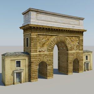 3d model paris arch