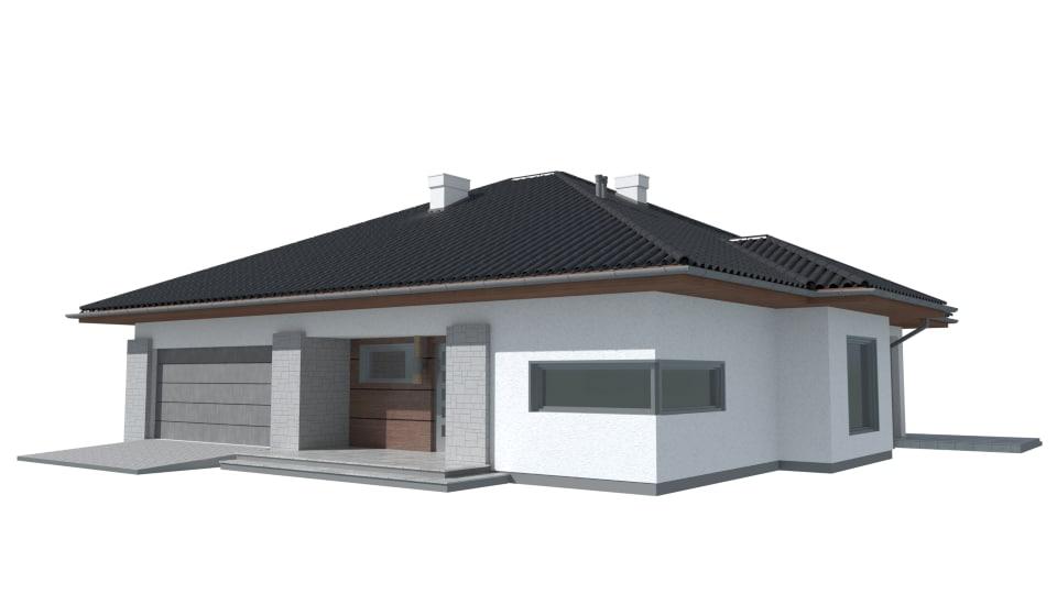 3d obj pastel house