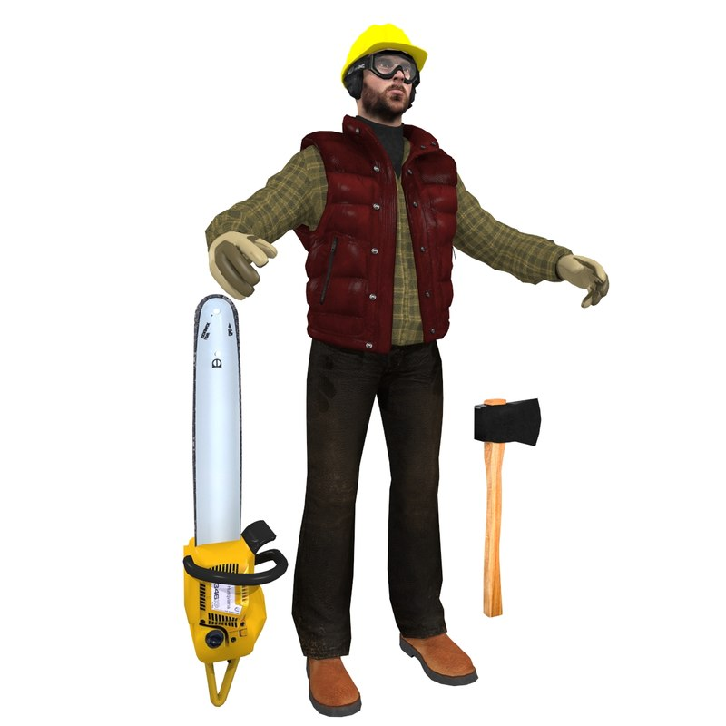 jack worker man 3d model