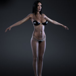 3d model of female body