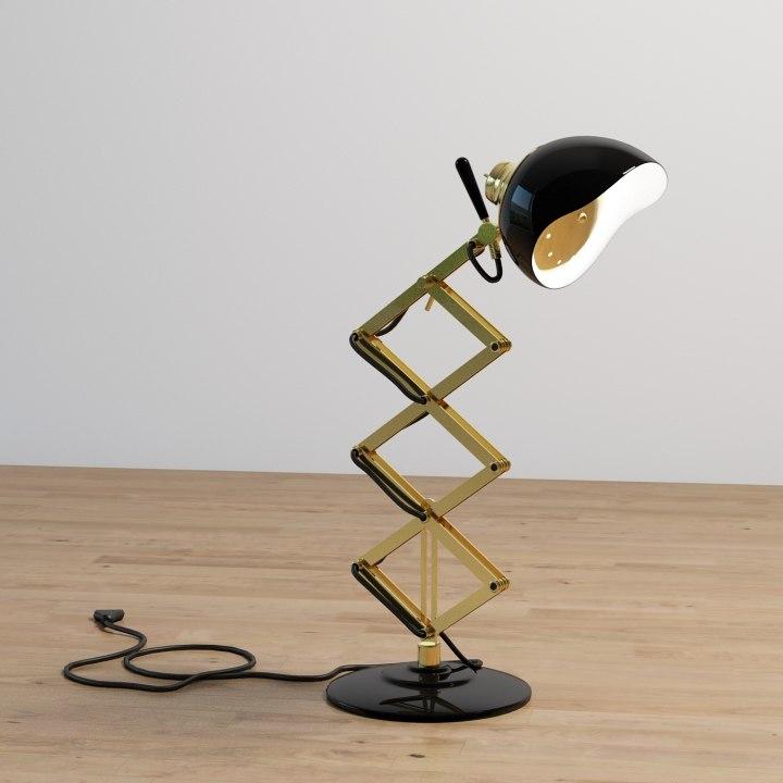 billy desk lamp 3d max