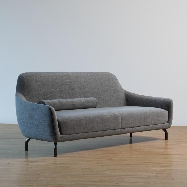 amber sofa   wittmann 3d model