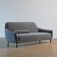 amber sofa | wittmann 3d model