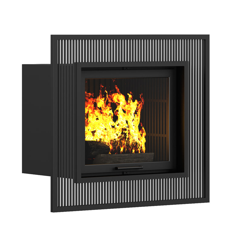 3d model of wall fireplace