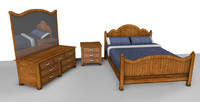 traditional bedroom suite bed 3ds