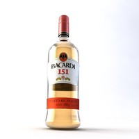 3d bottle bacardi 151