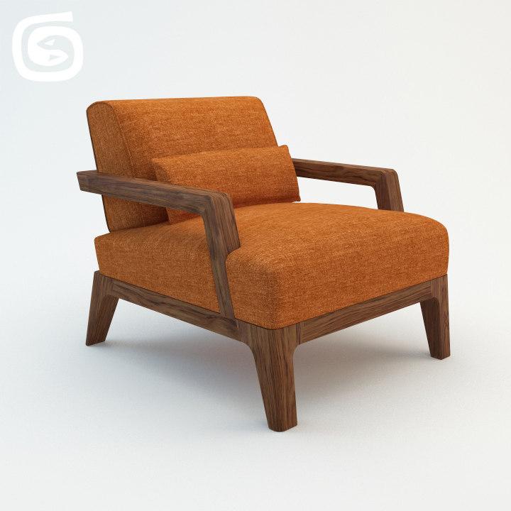3d model poltrona ottoman